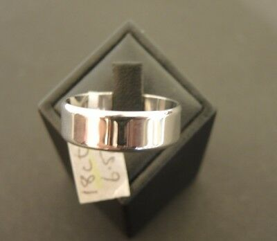 18ct Hand Made White Gold Wedding band or ring 6.5gms Size Y