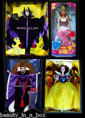 Maleficent Evil Queen Doll NO BOXES Great Villains Disney Sleeping Beauty Barbi