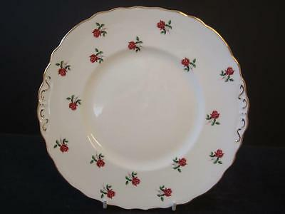 Colclough Fragrance Tiny Pink Rose Bud Twin Handled Cake Plate Weddings Parties