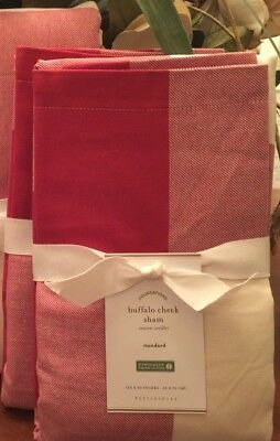 Pottery Barn  BUFFALO CHECK Sham, Standard, set of Two New W/ $39.50,Each