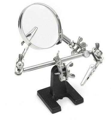 DIY Hands Free Magnifier Helping Hand Magnifying Glass Electrical Circuits Hobby