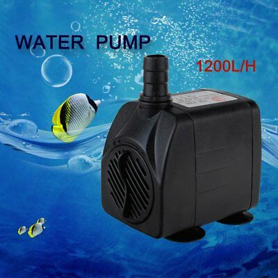 1200L/H Submersible Aqua Aquarium Fountain Pond Marine Water Pump Fish Tank