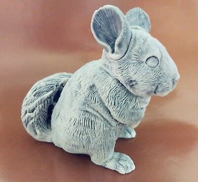 Chinchilla statuette marble chips realistic figurine  from Russia