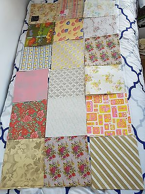 Huge Lot of Vintage Wrapping Paper Hallmark Wedding, Baby Shower, Xmas, Birthday