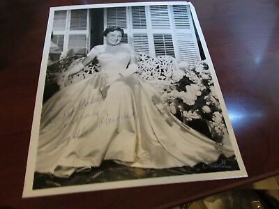 Louella Parsons Hand Signed Photo.The Queen of Hollywood..Screenwriter+Columnist