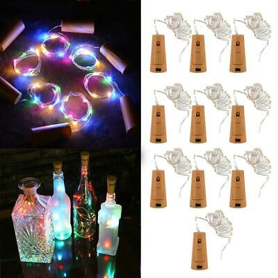 Cork Shaped 20 LED Night Light Starry Lights Wine Bottle Lamp For Party Colorful
