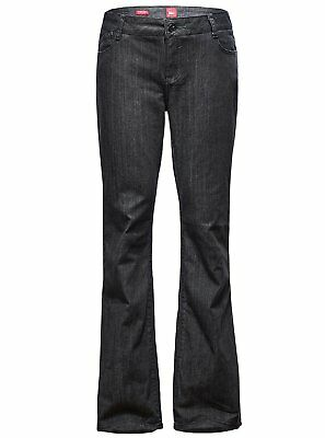 ZITY Womens Long Jeans Pants Black Plus Size Mid Waist Relaxed Bootcut Baggy