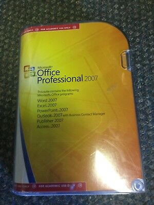 Microsoft Office Professional 2007 - Academic