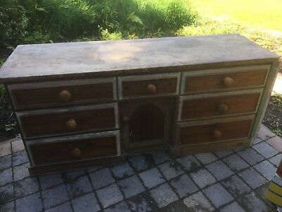 Antique Victorian Pine Sideboard Dresser Drawers Farmhouse Country Kitchen 5ft9""