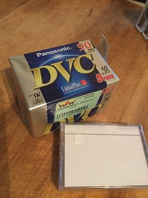 Panasonic Mini DV Tapes x4. 60min (90min LP)