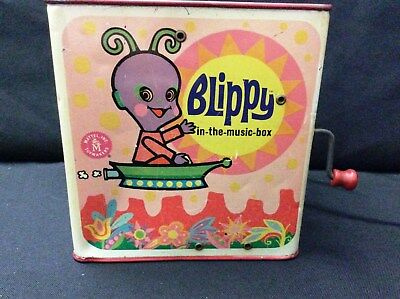 Blippy-in-the-Music-Box Jack in the Box 1968 Mattel Rare Vintage- Works