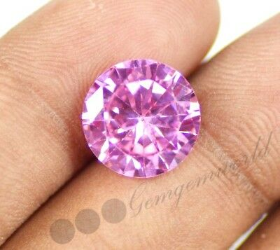 10.45 Ct Round Shape EGL Certified Natural Pink Sapphire Loose Gemstone~