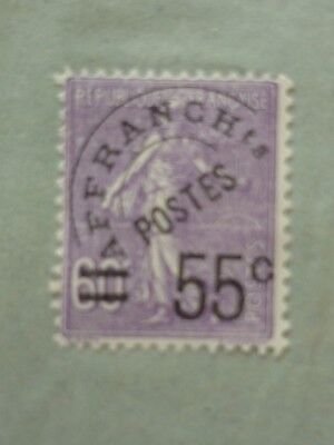FRANCE 1926 55 on 60c violet Sower pre-cancel vf used SG 443