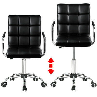 Swivel High Back Home Office Chair Furniture Gas Lift Computer Bar PU Leather