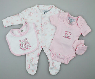 eb28a9c2130a PREMATURE BABY GIRLS 4 Piece Starter Clothing Layette Gift Set 3-5 ...