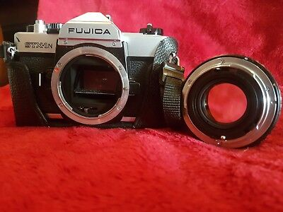 Fujica STX - IN *35MM Camera *with 50mm LENS , BAG,COVER, STRAP & FLASH