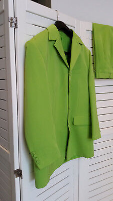 Men's  Microfibre Coloured Suit - Vibrant Green. as New Cond.