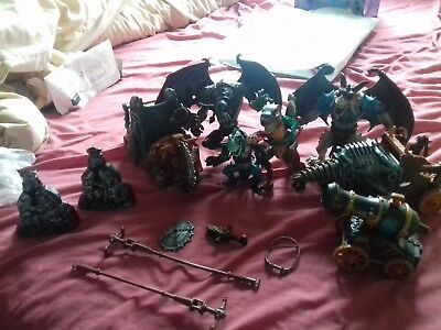 Chap Mei Job lot bundle mixture of  Medievil Figures Toys monsters gargoyles