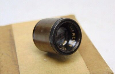 "Dallmeyer small brass F/3.5 lens approx 1"" 25mm focal length camera / projection"