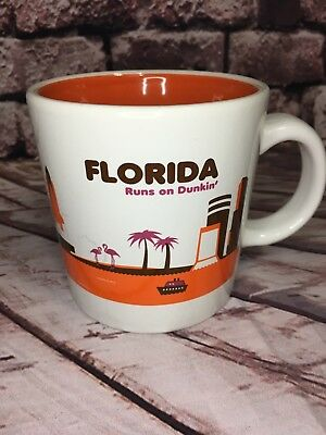 2013 Dunkin Donuts Coffee Mug, Florida Runs On Dunkin', 14 Ounce, New