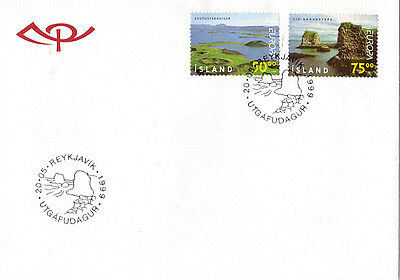 Iceland 1999 Sea Views Unaddressed First Day Cover Shs