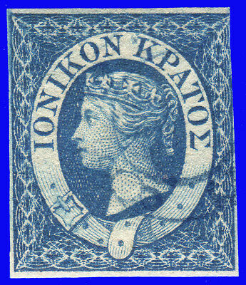 GREECE IONIAN STATE 1859 Engraved (1 d.) Blue USED