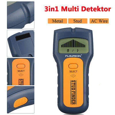 LCD 3in1 Wood Wall Stud Center Finder Metal Detector AC Live Wire Scanner Tester