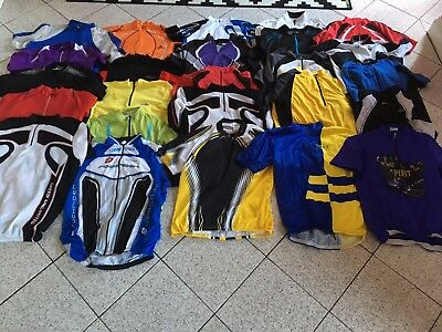 Job lot of 25 used cycling jerseys - carboot resale