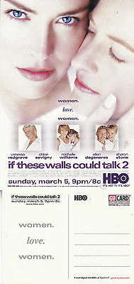 If These Walls Could Talk 2 Hbo Tv Channel Unused Advertising Colour Postcard
