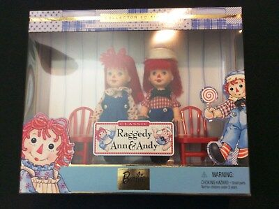 Classic Raggedy Ann and Andy Barbie Collectible Edition Kelly & Tommy Dolls