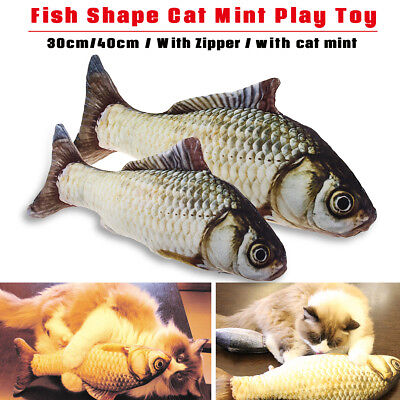 Grass Carp Pet Kitten Cat Chewing Fish Mint Velvet Catnip Interactive Toy Play