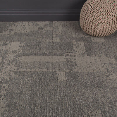 Heavy Use Milliken Quality Office Carpet Tiles - Patch Patterned - Grey - 3.76m2