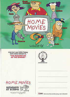 HOME MOVIES CHANNEL 9 WWOR TV UNUSED ADVERTISING COLOUR  POSTCARD (b)