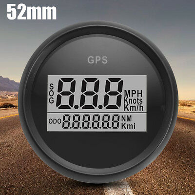 52mm Digital GPS Speedometer Gauge Bezel Black White for Auto Car Truck Marine