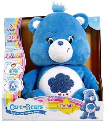 Care Bears 'Grumpy Bear' Sing-a-long Plush Interactive Toy Brand New Gift