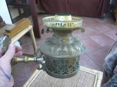 Antiuqe Style Vintage Wall Mounted Porch Hall Converted Electric Brass Oil Lamp