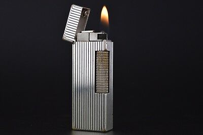 Dunhill Lighter Rollagas Serviced Working Vintage New O-rings Switzerland #559