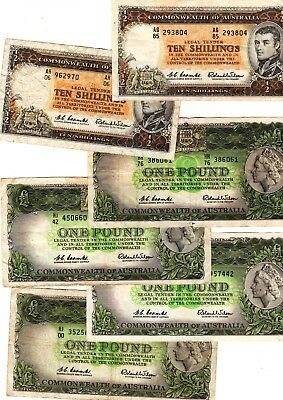 Australia - Small collection of old banknotes
