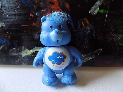 Vintage Carebear Grumpy Care Bear Poseable Figurine Figure PVC AGC Toy 1983