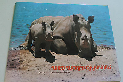 Vintage Booklet Wild World of Animals San Diego Zoological 1972