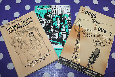 Vintage Booklet Lot Come on Spencers Songs You Love Snappy Drills and Marches