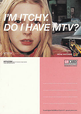IM ITCHY DO I HAVE MTV UNUSED ADVERTISING COLOUR  POSTCARD (a)