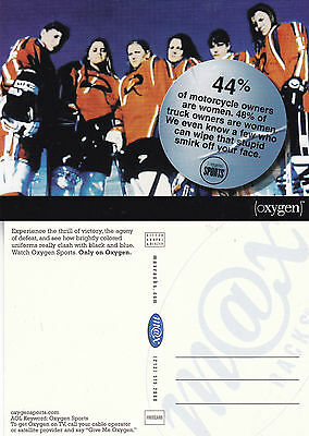 Oxygen Sports Tv Cable Programme Unused Advertising Colour  Postcard