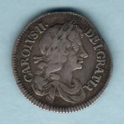 Great Britain. 1679 Charles 11 - Fourpence..  Fine+