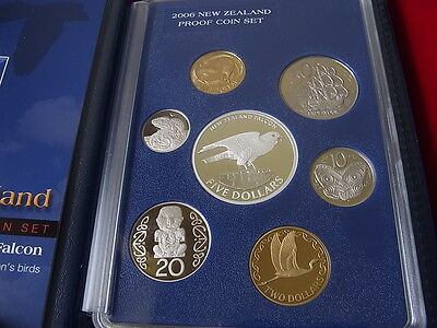 New Zealand.  2006 - 7 Coin Proof Set - N.Z. Falcon