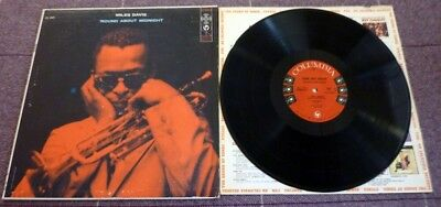 Miles Davis, Round About Midnight, 1957 Usa Columbia 6 Eye Record Label Mono Lp.