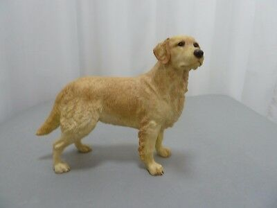 Standing Labrador Dog Figurine Unnamed Pottery Matt Finish 7 inches long.