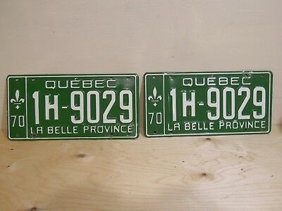 two licence plaques  QUÉBEC 1970  good  condition  see  photos