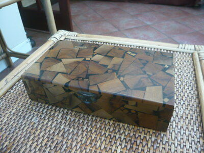 ANTIQUE VINTAGE CUBISM Art Deco 1930,S  DESK TOP PEN CIGAR JEWELLERY BOX ISRAEL
