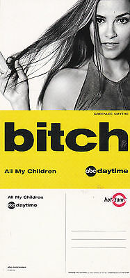 All My Children Abc Daytime Tv Channel Unused Advertising Colour Postcard